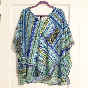 Bleeker & McDougal EUC 1X Flowy Blouse